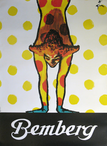 Bemberg (Dots) Authentic Vintage Poster by Rene Gruau