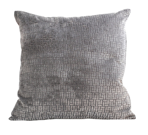 Trovati Velvet Bari Decorative Pillow- Steel Silver