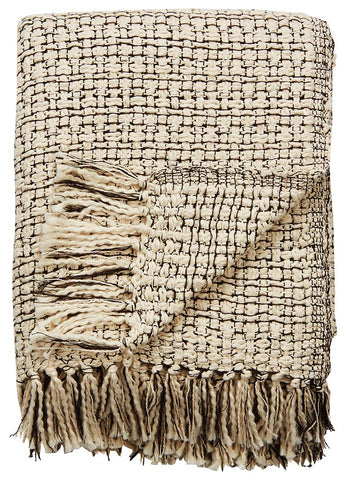 Jaipur Hamlin Throw - Whisper White/Raven