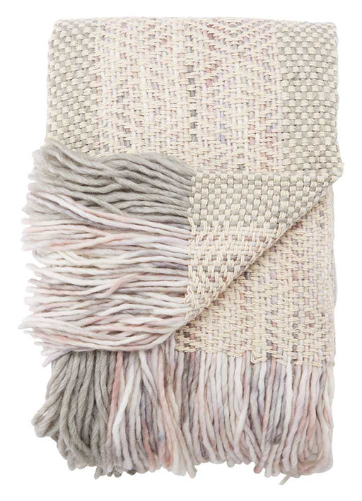 Jaipur Hamlin Throw - Pink/Gray/Cream