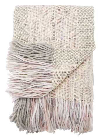 Jaipur Hamlin Throw - Angora/Frost Gray