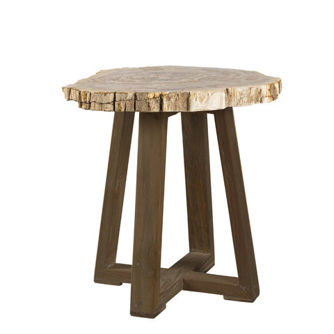 Padma's Plantation Ibiza Petrified Wood End Table
