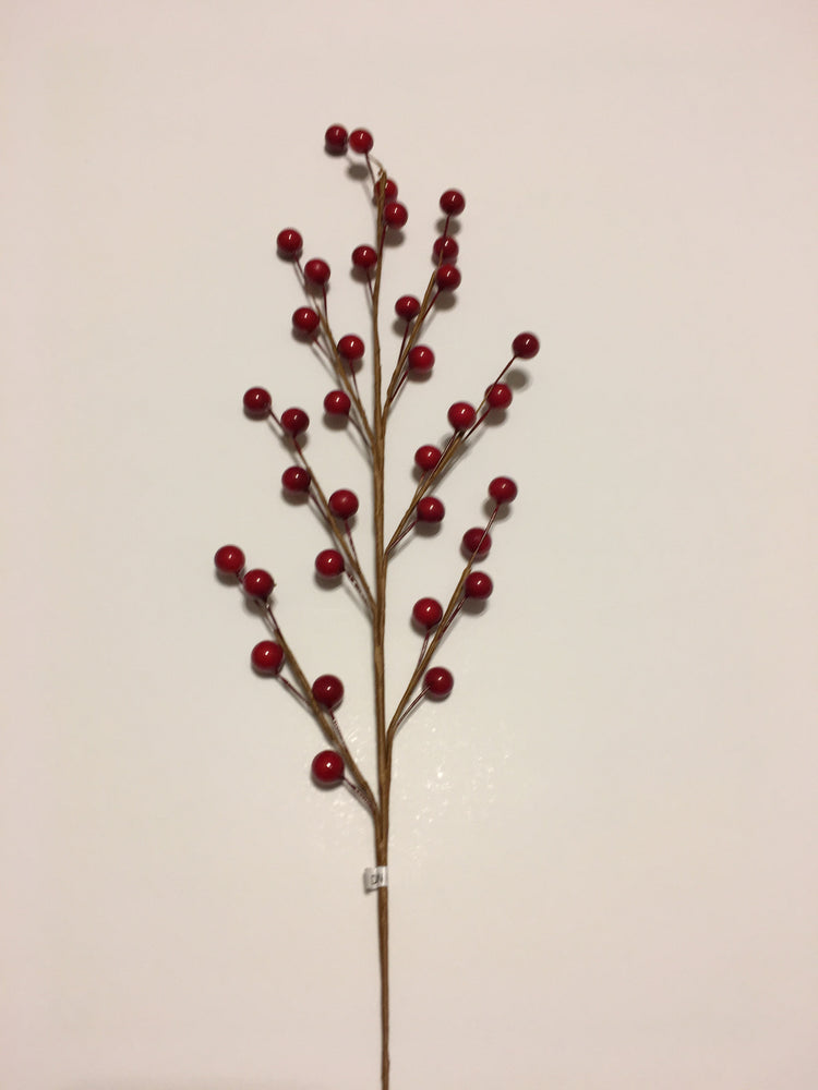 Red Berry Floral Spray | Seasonal Decor | Trovati Studio
