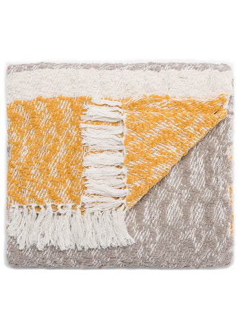 Jaipur Kinley Throw - Paloma/Honey Gold