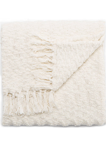 Jaipur Kinley Throw - Snow White