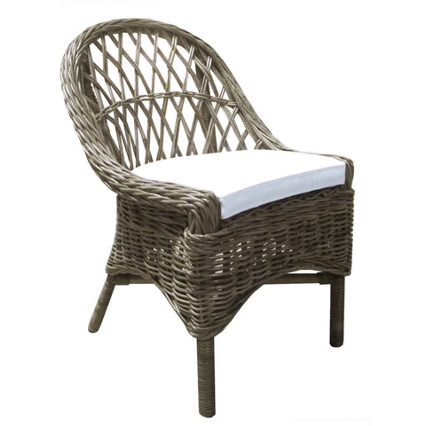 Padma's Plantation Cross Weave Dining Chairs Kubu S/2