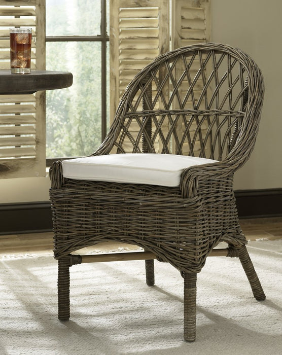 Padma's Plantation Cross Weave Dining Chairs Kubu S/2 - Trovati