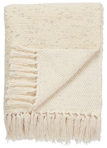 Jaipur Lovell Throw - Antique White/Silver