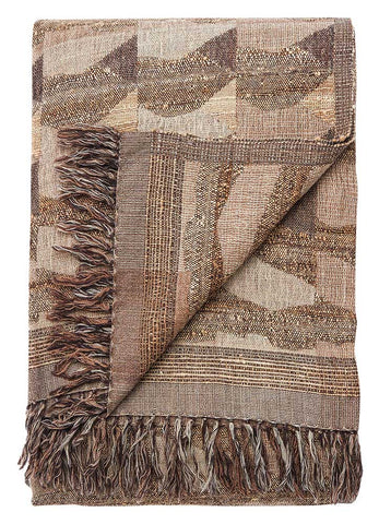 Jaipur Lovell Throw - Fossil/Dark Gull Gray