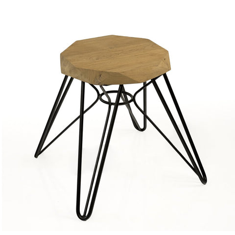 Padma's Plantation Madrid Stool - Black