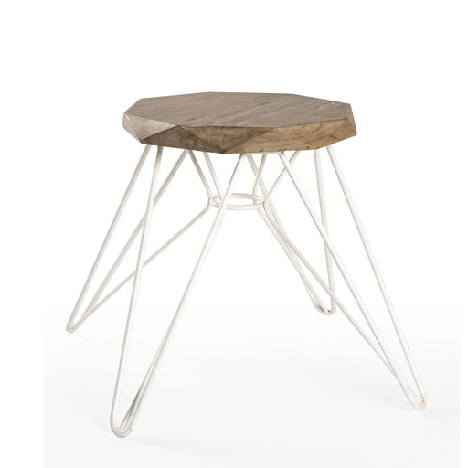 Padma's Plantation Madrid Stool - White - Trovati