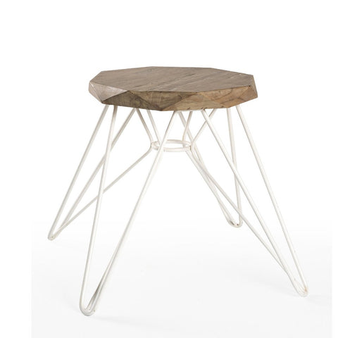 Padma's Plantation Madrid Stool - White