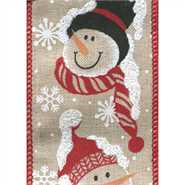 Snowmen Ribbon | Holiday Decor | Trovati Studio