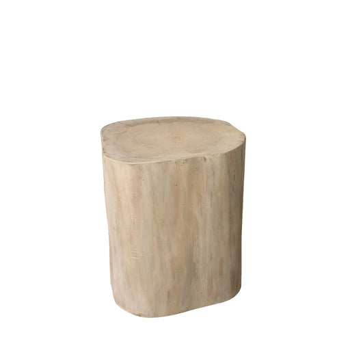 "Padma's Plantation Natural Tree Stump Side Table - 15"" White - Trovati"