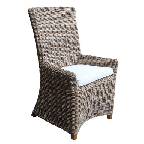Padma's Plantation Nico Arm Dining Chair Kubu
