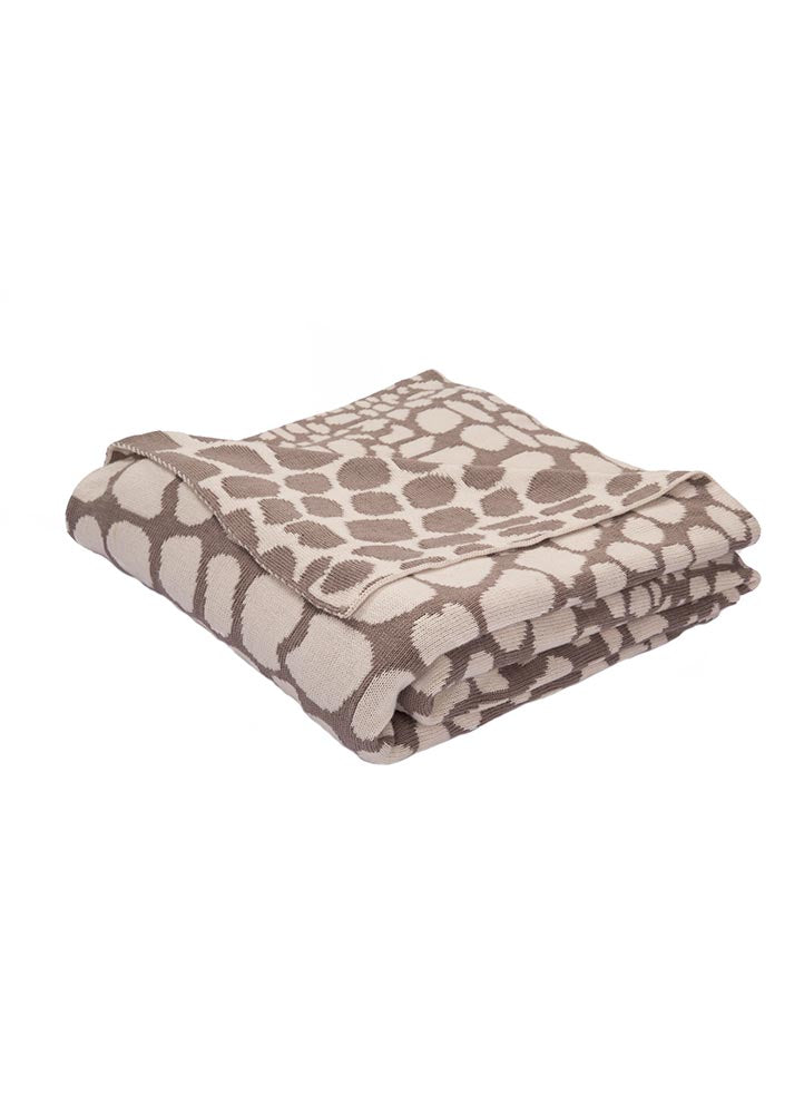 Jaipur National Geographic Throw - Taupe/Grey