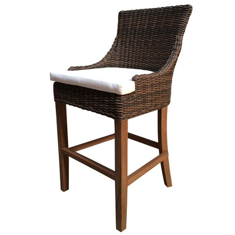 Padma's Plantation Outdoor Alfresco Barstool - Crocodile Rattan