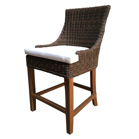 Padma's Plantation Outdoor Alfresco Counter Stool - Crocodile Rattan