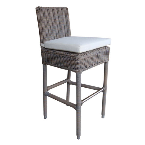 Padma's Plantation Outdoor Boca Barstool - Grey