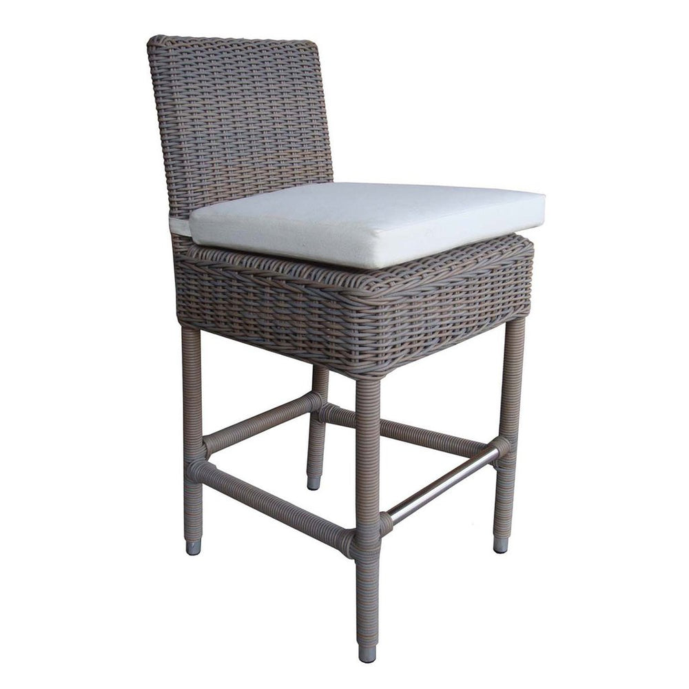 Padma's Plantation Outdoor Boca Counter Stool - Grey - Trovati