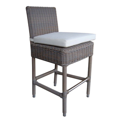 Padma's Plantation Outdoor Boca Counter Stool - Grey