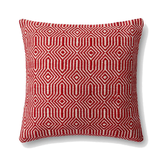 Loloi Equilibrium Indoor Outdoor Pillow - Red - Trovati