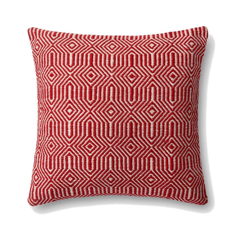 Loloi Equilibrium Indoor Outdoor Pillow - Red