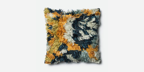 Loloi Marigold Accent Pillow - Gold/Orange/Blue/White