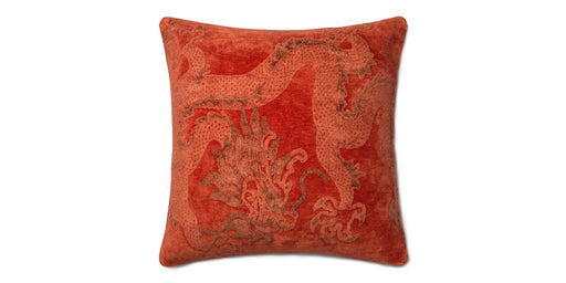 Loloi Red Hydra Viscose Accent Pillow - Red/Orange