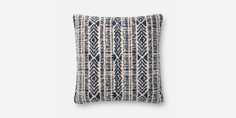 Loloi P0678 Pillow - Blue / Natural