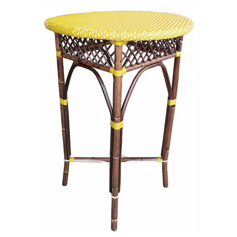 Padma's Plantation Paris Bistro Bar Table - Yellow