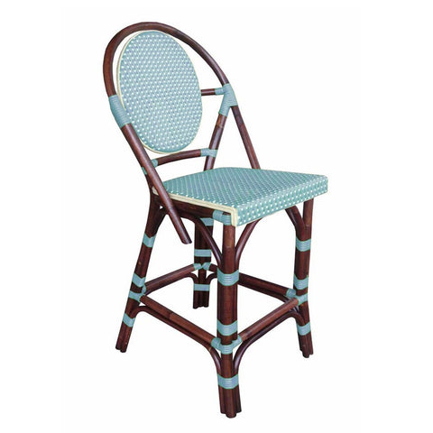 Padma's Plantation Paris Bistro Counter Stool - Blue