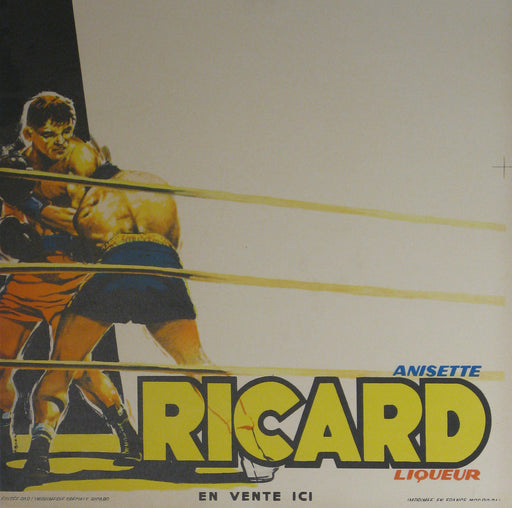 Ricard (Boxer) Authentic Vintage Poster by G. Potier - Trovati
