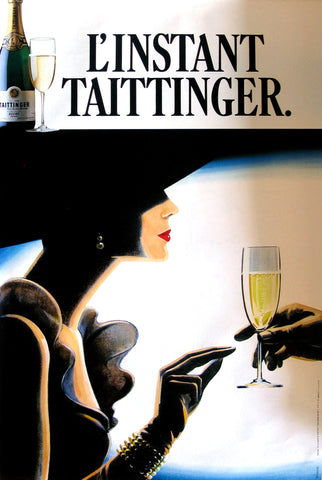 L'instant Taittinger Authentic Vintage Poster