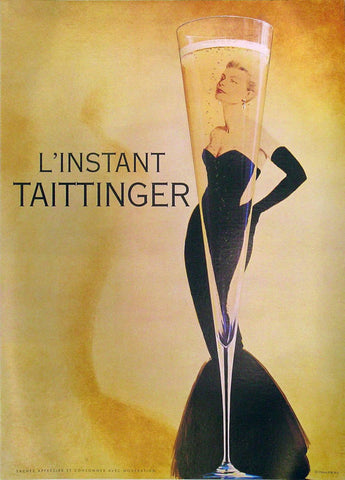L'Instant Taittinger Authentic Vintage Poster by Publicis Conseil