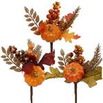 Pumpkin & Fall Leaves Spray | Seasonal Decor | Trovati Studio
