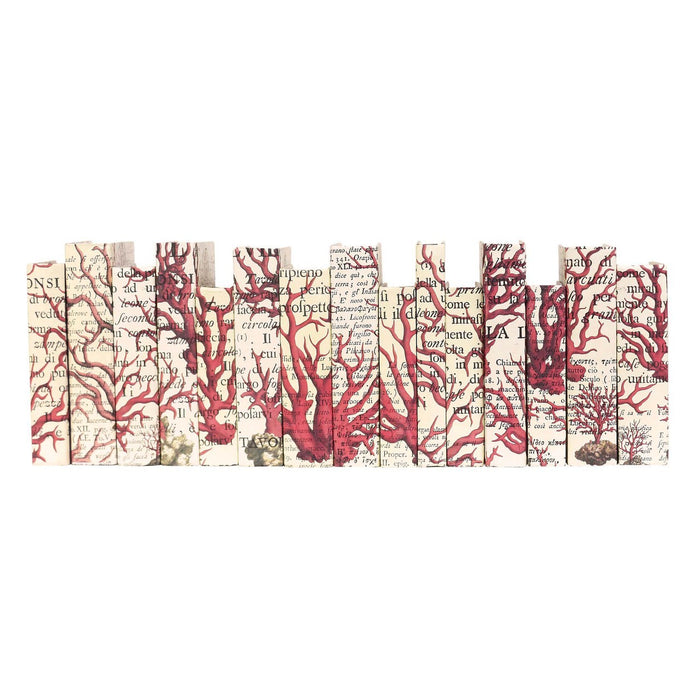 Red Coral Decorative Books | E.Lawrence Ltd | Trovati Studio