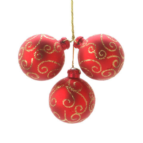 Red & Gold Ornament Floral Pick | Seasonal Decor | Trovati Studio