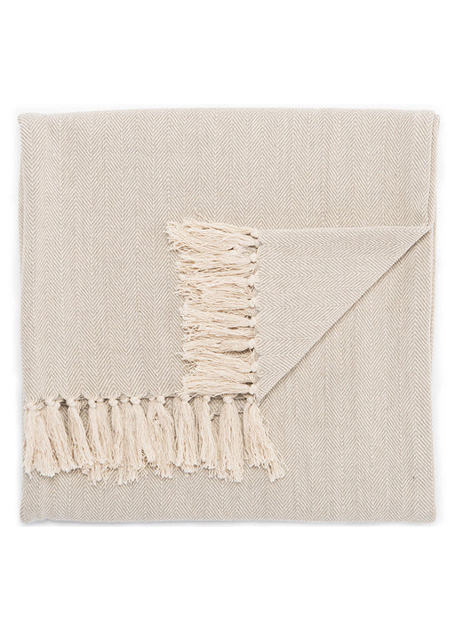 Jaipur Seabreeze Throw - Neutral Gray/Birch