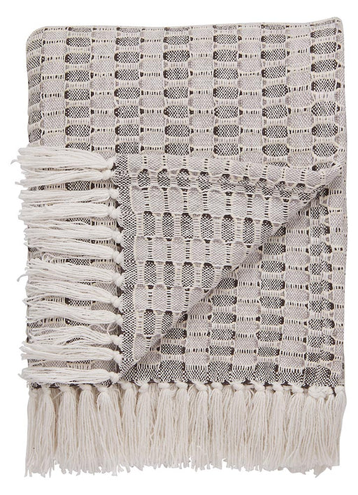 Jaipur Spirit Throw - Marshmallow/Bungee Cord