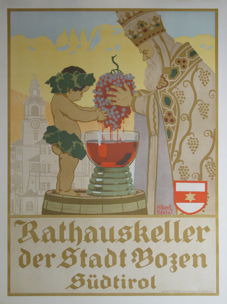 Rathauskeller Authentic Vintage Poster by Albert Stolz - Trovati