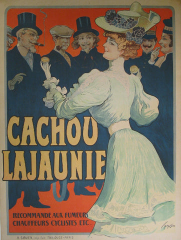 Cachou Lajunie Authentic Vintage Poster by Tamagno