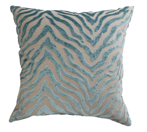 Trovati Peekskill Zebra Decorative Pillow- Seaglass