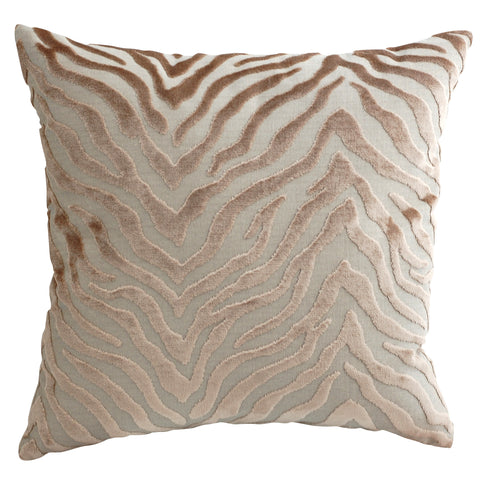 Trovati Peekskill Zebra Decorative Pillow- Beige