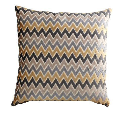 Trovati Rhinebeck Decorative Chevron Pillow- Latte