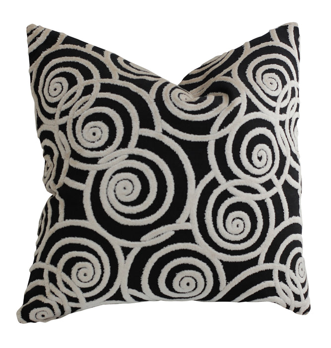 Trovati Decorative Pillow - Velvet Chevron Jet Set Swing Black  - 2