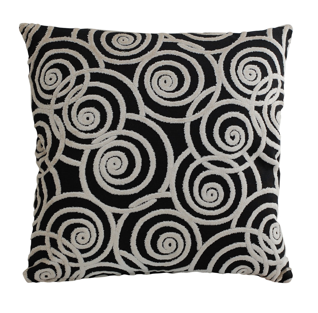 Trovati Decorative Pillow - Velvet Chevron Jet Set Swing Black  - 1