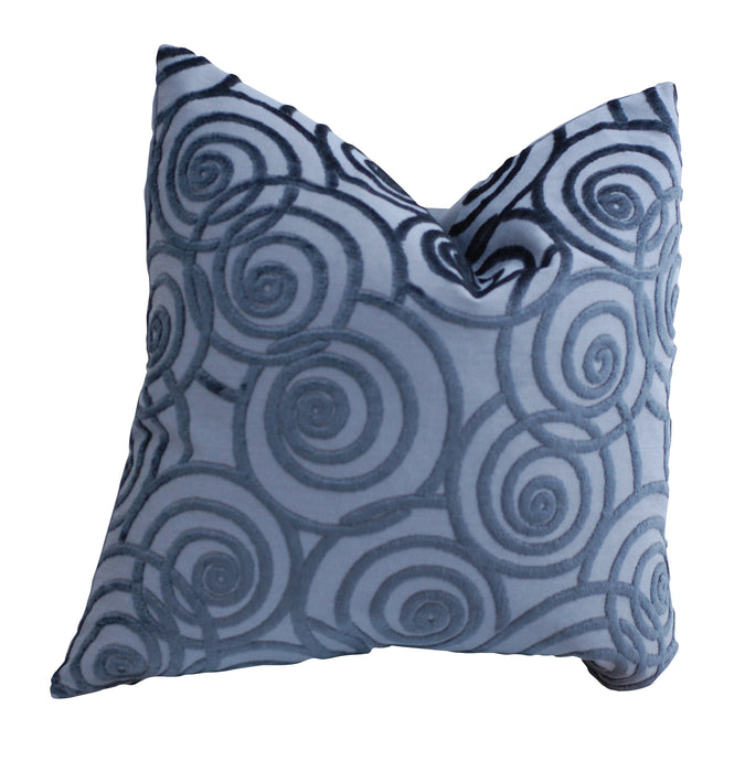 Trovati Decorative Pillow - Velvet Chevron Ink Swing Blue  - 2