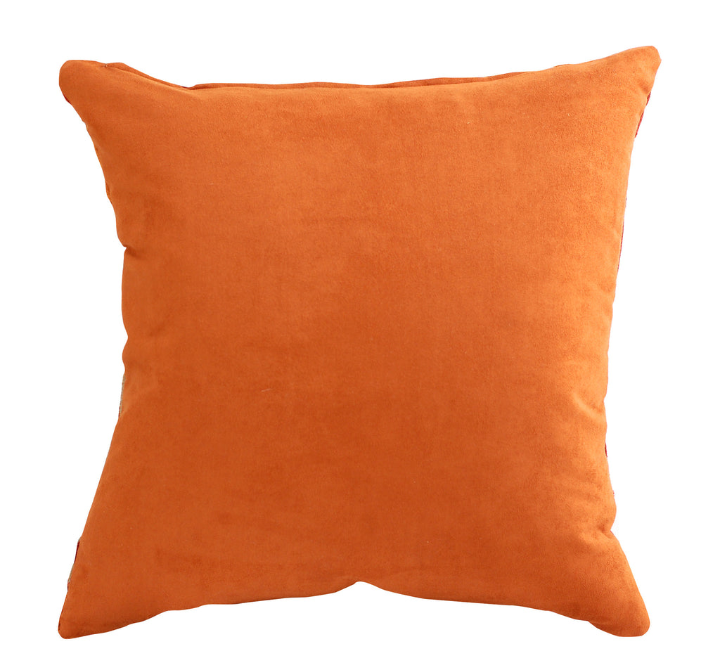 Trovati Decorative Pillow - Velvet Stripe High Beam Orange  - 3