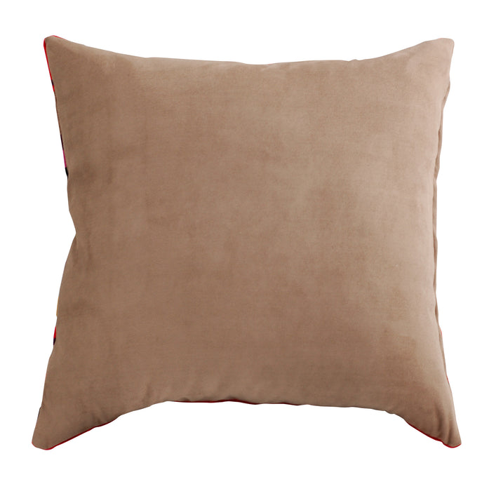 Trovati Decorative Pillow - Velvet Striped Cake Red Brown Pink Gold  - 3